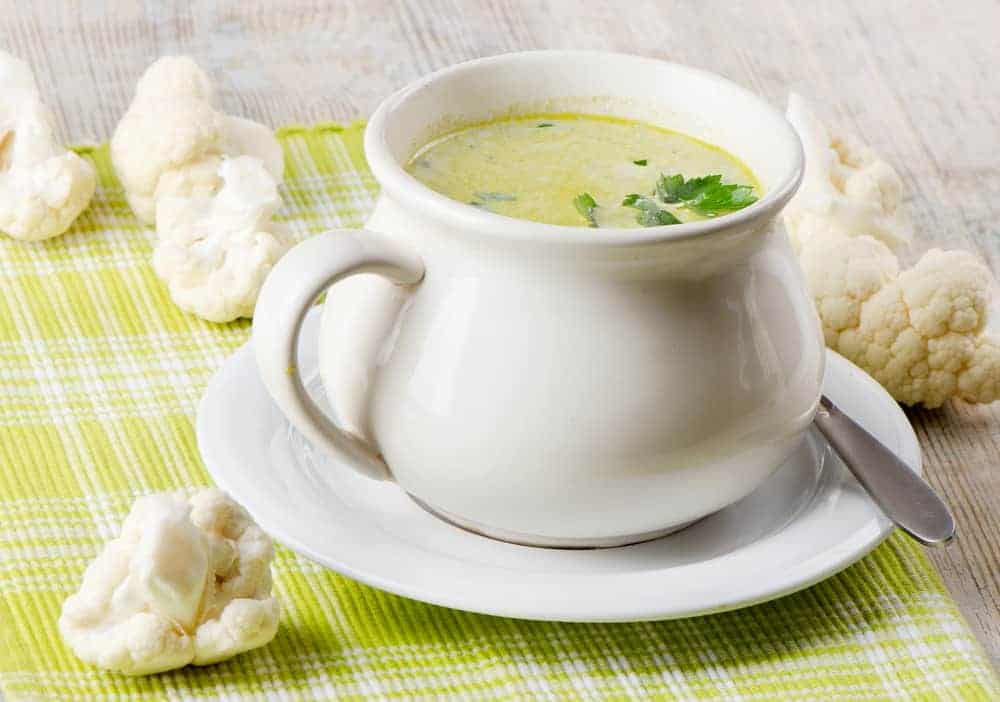 cauliflower mozzarella soup