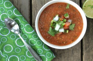 spicy summer gazpacho