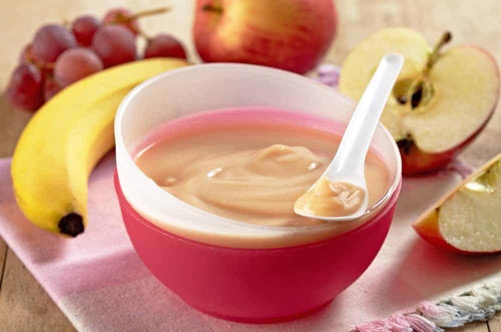 apple banana oats puree