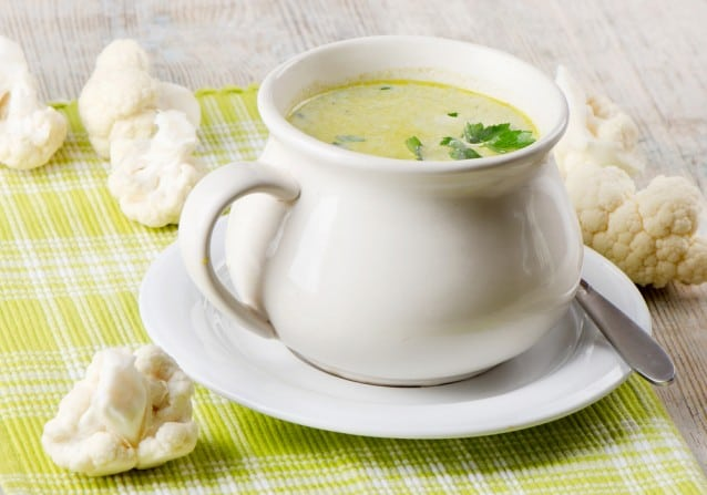 Cauliflower and Mozzarella Soup