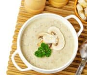 Creamy Mushroom Asiago Soup