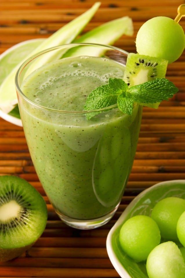 Honeydew Melon and Kiwi Smoothie