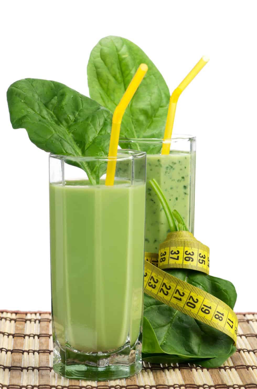 Зелёный коктейльы для похудения