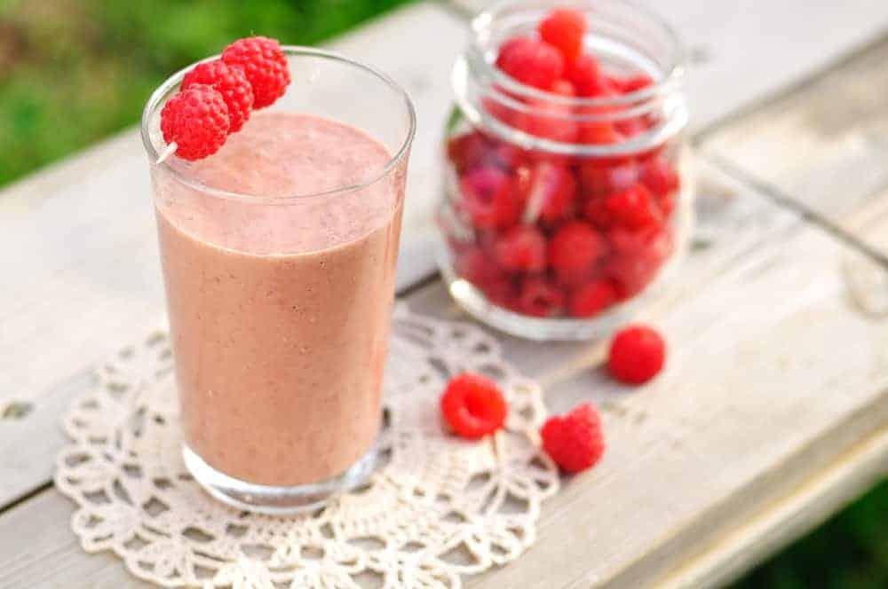 raspberry chocolate smoothie
